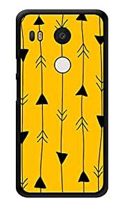 """Humor Gang Arrow In Line Printed Designer Mobile Back Cover For """"Lg Google Nexus 5x"""" (3D, Glossy, Premium Quality Snap On Case)"""