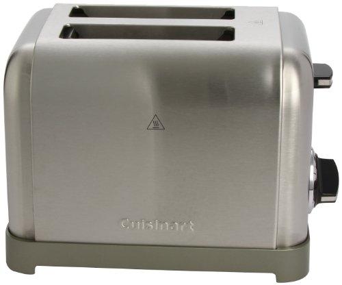 Cuisinart cpt160e grille pain toaster 900w acier bross 2 fentes extra larges - Grille pain cuisinart cpt160e ...