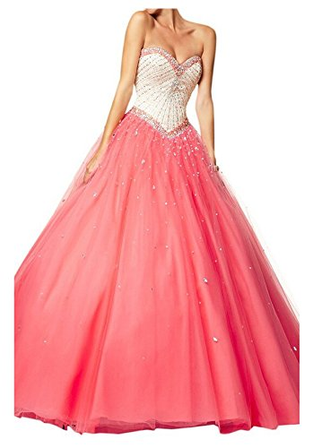 angeldragon-Lovely-Perles-Boule-Princesse-robes-Tulle-Robe-quninceanera