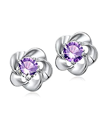 Celebrity Jewellery Silver Stud Earrings with Cute Small Swarovski Elements Crystal Women for Women Gift