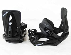 SnowJam Adult Snowboard Bindings, Black, Size Large 2012 model 9-14 sizes NEW
