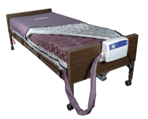 Drive Medical Med Aire Low Air Loss Mattress Replacement System with Alternating Pressure, Dark Purple, 8″