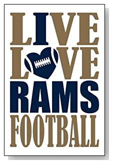 Live Love I Heart Rams Football lined journal - any occasion gift idea for Los Angeles Rams fans from WriteDrawDesign.com