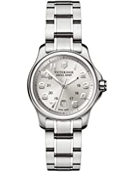 Swiss Army Ladies Officers Date Watch - Stainless Steel - Silver Dial - Date