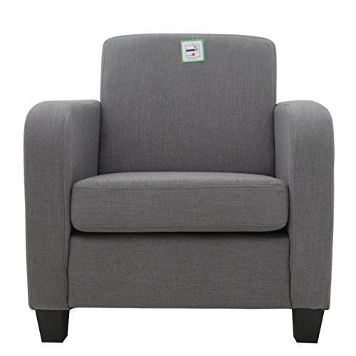FoxHunter-Linen-Fabric-Tub-Chair-Armchair-Dining-Living-Room-Lounge-Office-Modern-Furniture-Grey-New