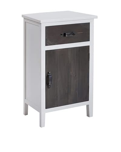 Gallerie Décor Adirondack 1-Drawer & 1-Door Cabinet, White