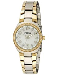 Fossil Analog Mother Of Pearl Dial Women's Watch - AM4183