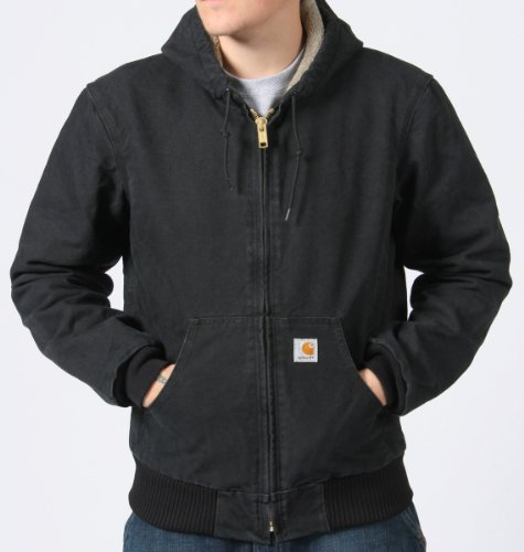 Carhartt Sherpa Lined Jacket Mens Winter Work Coat- Black