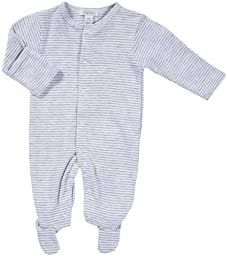 Kissy Kissy Essentials Stripe Footie - Grey-6-9 Months