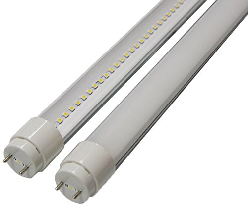 Goodlite G-20431 10-Watt 2-Feet T8 T10 Or T12 Led Tube 20W 17W Fluorescent Bulb Replacement, Ul Approved Single End Power, Clear