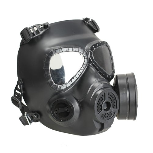 Vktech® Gas Mask Chemical Anti-Dust Paint Respirator Mask Glasses Gameplayer (Black)