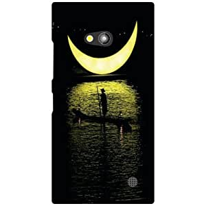 Nokia Lumia 730 Back Cover - Shadow Of Moon Designer Cases
