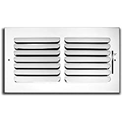 "10"" x 8"" - 1-Way Curved Blade Supply Air Grille - Maximum Air Flow - HVAC Vent Cover"