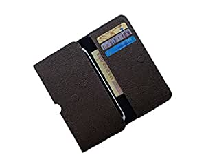 ATV PU Leather CHOCOLATE Pouch Case Flip Cover For Lyf Wind 7
