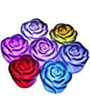 OEM 7 Color Changing Rose Flower LED Light Night Candle Lamp Romantic
