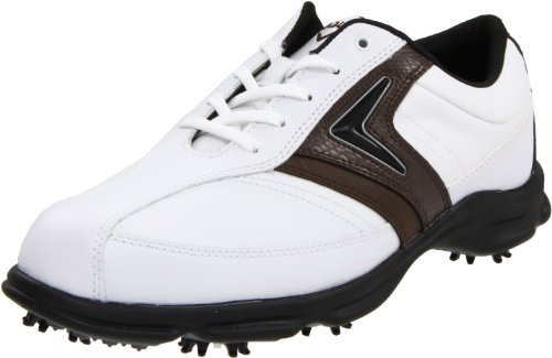 Callaway Men's C Tech Saddle M162-14 Golf Shoe,White/Brown,9