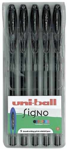 Uni-Ball Signo Gel UM-120 - Bolígrafo de tinta gel (5 unidades)