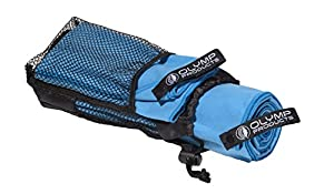 2er-Pack Schnelltrocknende Sporthandtücher: Super Saugfähig Mikrofaser Handtuch-Set in einem Beutel - geeignet als Sporthandtuch, Badetuch, Reisehandtuch, Fitnesshandtuch (blau)