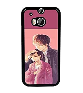 PrintDhaba Couple D-2654 Back Case Cover for HTC ONE M8 EYE (Multi-Coloured)