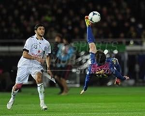 Lionel messi la liga club fc barcelona bicycle kick 8x10 11x14 16x20 photo 3045 - Messi bicycle kick assist ...