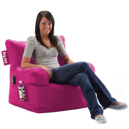 Big Joe Dorm Chair, Pink-Ini front-441436