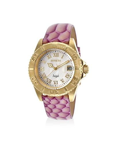 Invicta Women's 18420 Angel Pink/Mother-of-Pearl Leather Watch