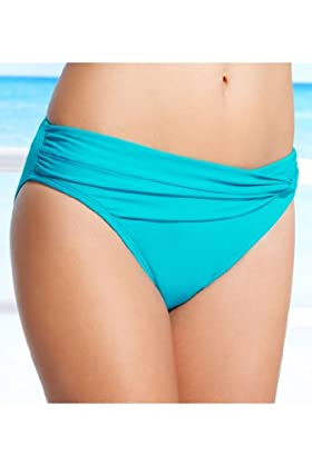 Ruched Detail Hipster Bikini Bottoms [T52-0104-S]