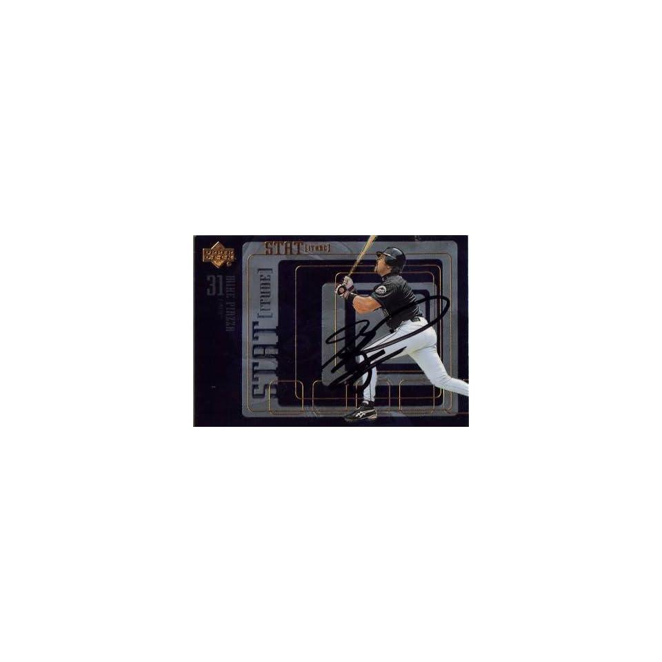 1999 Upper Deck #s17 Mike Piazza Mets Signed Auto Jsa   Sports Memorabilia