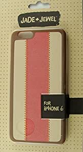 Jade & Jewel Case for iPhone 6, Brown and Pink Faux Leather