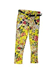 Bodingo Girls' Slim Pant (Bodingo1410Y_Yellow_11-12 Years)