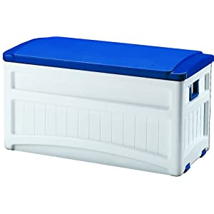 Click to buy Pool Toy Storage: Suncast Pool Deck Box from Amazon!
