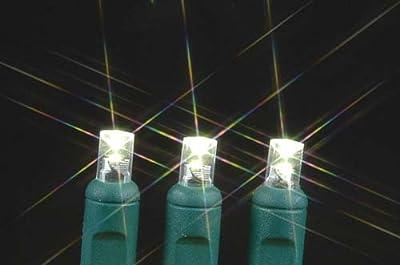 Commercial Grade Christmas LED Net Light Set, 4' X 6', Warm White, Green Wire, 150 Light
