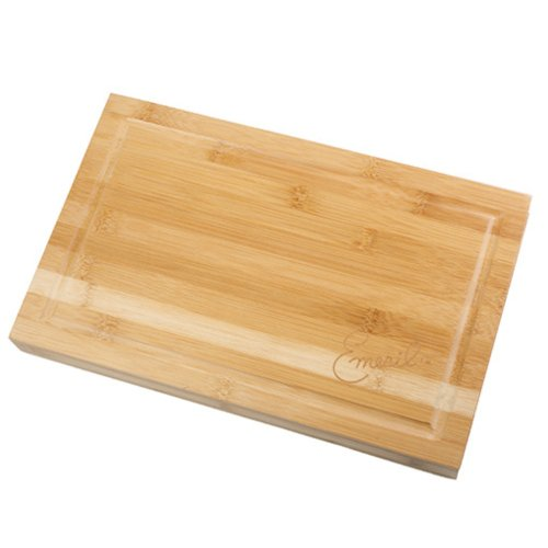 emeril 3 piece bamboo cutting board with storage drawer and 3 piece all purpose steel knife set. Black Bedroom Furniture Sets. Home Design Ideas