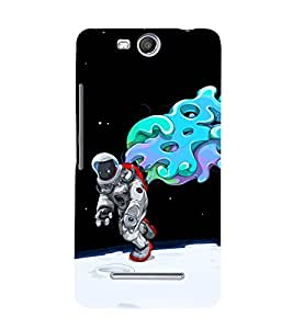 printtech Astronaut Abstract Space Back Case Cover for Micromax Canvas Juice 3 Q392