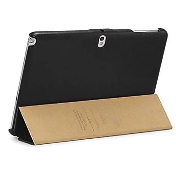 protection de tablette n haut haut de gamme cuir v ritable noire noire pour samsung note 10 1. Black Bedroom Furniture Sets. Home Design Ideas