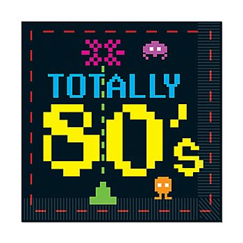 Totally 80s Video Game Theme Luncheon Napkins - Pack of 16