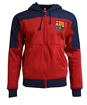fc barcelona youth hoodie boys zip front. Black Bedroom Furniture Sets. Home Design Ideas