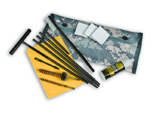Kleenbore Gun Care Digital Camo (M) -AR-15/M Field Cleaning Kit (MOLLE Attachment Device)