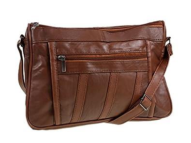new ladies tan leather shoulder bag handbag