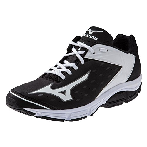 Mizuno Usa Mens Men's Wave Swagger 2 Trainer Baseball Cleat,Black/White,10 D US
