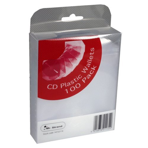 Strand CD Plastic Wallets 100 Pack
