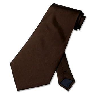 Solid Chocolate Dark BROWN Neck Tie. Men's NeckTie.
