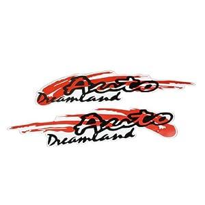 2 Pcs Vehicle Car Decorative Letters Design Decal Sticker Red ...