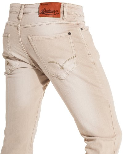 Deeluxe jeans - Beige jeans man fashion trend and washed - Color: Beige Size: Fr 46 US 36