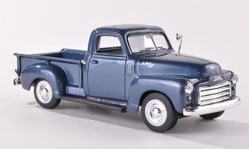 GMC Pick Up met.- dkl.- blau, 1950, Ready Model, Scale: 1:43, Ming Yat
