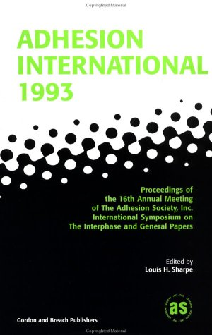 Adhesion International 1993 PDF