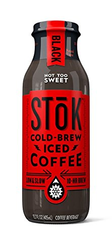 SToK Cold Brew Iced Coffee, Black, 13.7 oz/12 Pack