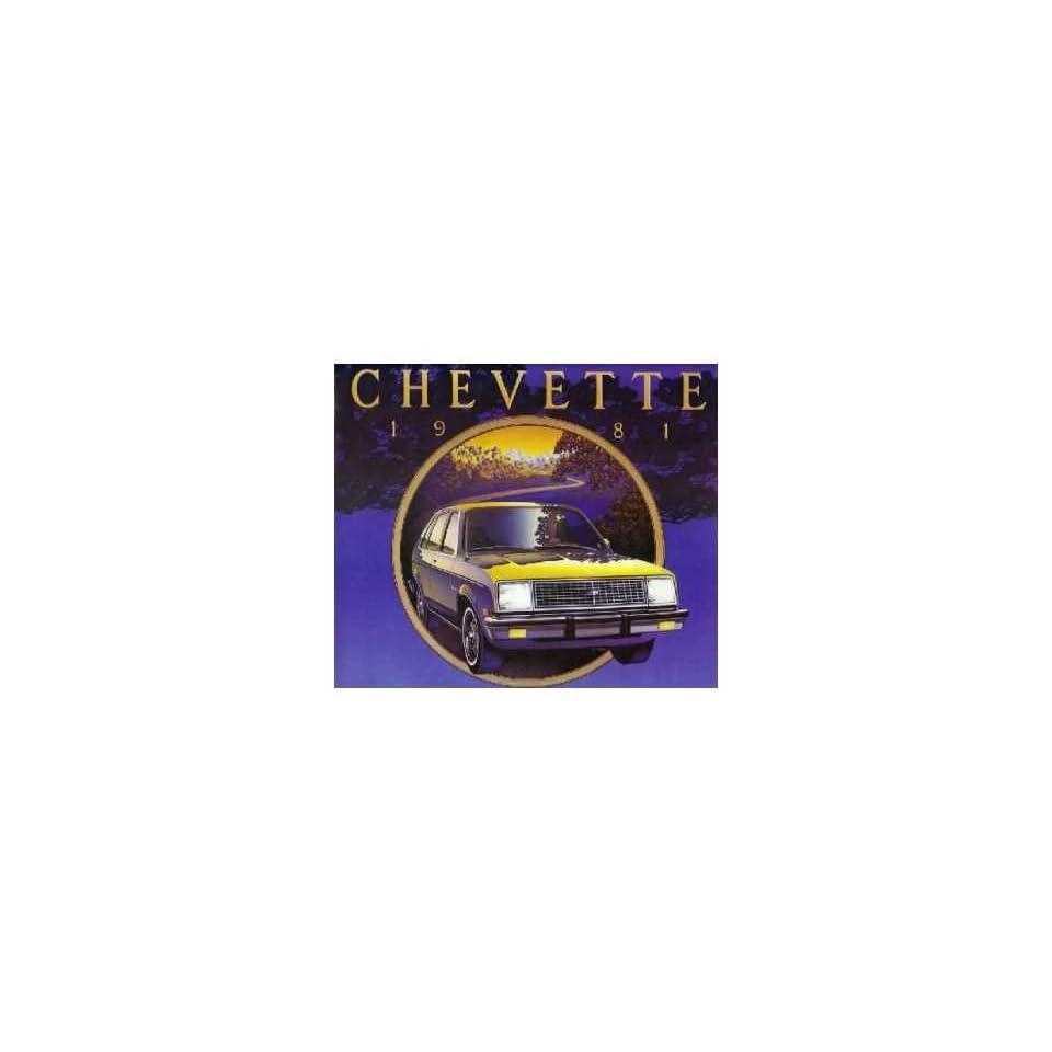 1981 Chevrolet Chevette Sales Brochure Literature Book Options Specification