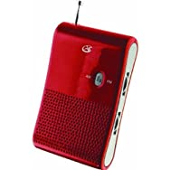 DPI IncR052RGPX AM/FM Red Portable Radio-AM/FM PORTABLE RADIO