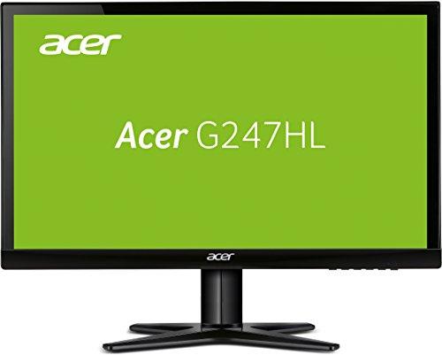 Acer G247HYLbidx 60 cm (23,8 Zoll) Monitor (VGA, DVI, HDMI, Full HD, 4 ms Reaktionszeit, EEK A) schwarz